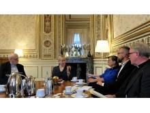 Margot Wallström i samtal med kyrkorna om religionsfrihet