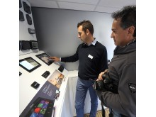 Image - Raymarine - Carlo Baj, Raymarine Italy, demonstrating products