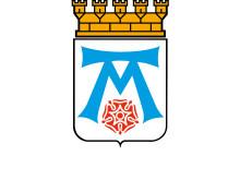 Västerås logotype vit text