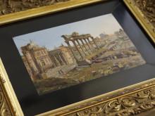Micromosaik, Forum Romanum, Italien cirka 1850, Lundgrens, Grand Antiques 2018