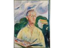 Edvard Munch Selfportrait with Palette 1926