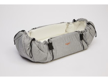 SleepCarrier Morning Grey carry cot