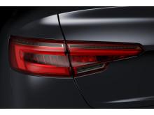 Audi A4:s karaktäristiska baklyktor med design från Hella