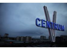 Vällingby Centrum skylt på taket