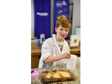 James Furnival, 9 year old winner of Mondelez International's internal competition inviting the families of colleagues to engineer the chocolate bar of tomorrow
