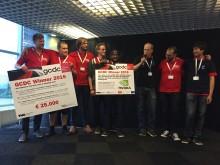 Team Halmstad uppmärksammas i samband med vinsten.