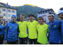 ASICS ambassadör Jonas Buud med sitt Team Ultra-Trail i Outrun the Sun