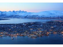 Tromsø kledt i vinterdragt