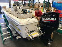 Hi-res image - Mastry Engine Center - A Pro-Line 20 Sport has a new Suzuki 200hp installed at Mastry Engine Center