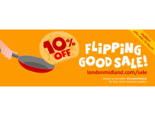 Save 10% on rail tickets in our flipping good sale