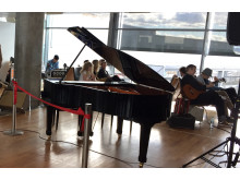 Parkert piano ved Oslo Lufthavn