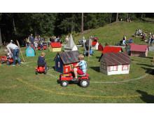 Barnas trafikkby på Maihaugen på Barnas sommerdag