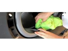 Rengör gummiringarna i tvättmaskinen
