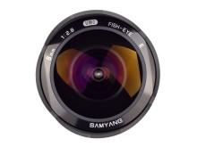 Samyang 8mm F/2,8 Sony NEX ja Samsung NX, suoraan edestä