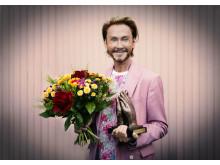 Christer Lindarw tar emot årets Lisebergsapplåd 2018