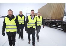 Robert Lindkvist DB Schenker,  Hans Backman Real Rail, Johan Granberg och Anders E Johannson Polarbröd