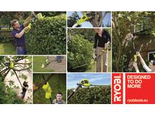 Nya trädgårdsmaskiner från Ryobi® med extra lång räckvidd