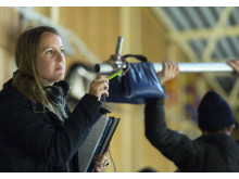 Sanna Lenken under inspelningen av Min lilla syster. Foto: Ola Kjelbye