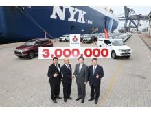 Mitsubishi Motors Thailand knackt die 3 Millionen Exportmarke