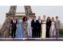 Skuespillerne i Paris til premieren