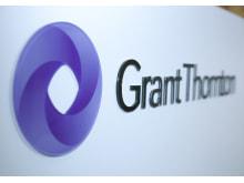 Grant Thorntons logotype på vägg