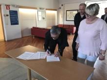 Avtal undertecknas mellan Högskolan i Halmstad och Falkenbergs kommun