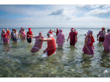 Julemændenes Verdenskongres - den store badedag på Bellevue