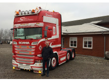 Ny lastbil til chauffør Toni Sostack