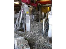 Rensgaller med skräp på VA SYDs avloppsreningsverk.
