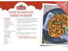 Rezeptkarte Arla Buko® India Naan Pizza mit Kichererbsen und Auberginen