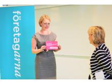 Företagarnas VD Elisabet Thand Ringqvist och justitieminister Beatrice Ask