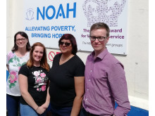GTR staff working with homeless charity NOAH