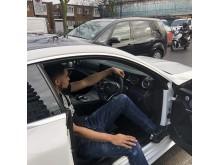Dan Aiyegbusi in white Mercedes_1
