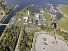 Fotomontage av hur kärnbränsleförvaret kan se ut i Forsmark