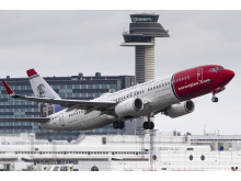 Norwegian's LN-DYU aircraft take-off from Arlanda