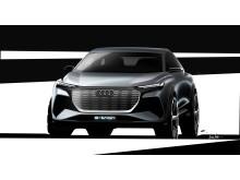 Audi Q4 e-tron concept (skitse forfra)