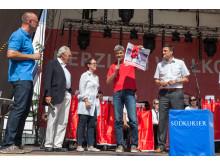Ausbildungsleiter Mirko Leisse bei Auftaktveranstaltung zum Stadtfest Singen 2015