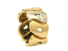 Moderna 16/1, Nr: 62, OLE LYNGGAARD, ring, 18K guld/vitguld, 3 briljanter ca 0,05 ctv
