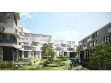 Skanska Copenhagen residential courtyard
