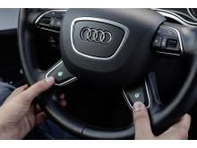 Ratt aktiverad i autopilotläge Audi A7 piloted driving concept