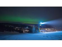 Präpariert für nächtlichen Skispaß: Die olympischen Pisten von Kvitfjell sind beleuchtet.