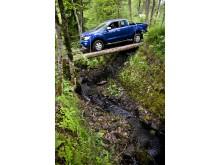 Nye Ford Ragner tar seg frem også i ulent terreng.
