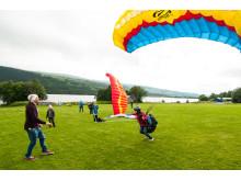 Prova på skärmflygning under Åre Mountain Festival