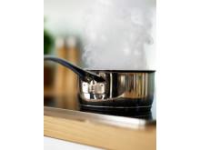 Pass på at du ikke tørrkoker panner og kjeler på komfyren. Være ekstra oppmerksom når du lager julemiddag.