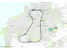 Karta Jägersro Malmöringen