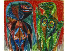 Asger Jorn: Fantasy Animals. Estimate: DKK 400,000-500,000 (€ 53,500-67,000)