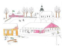 Illustration Mötesplatsen St. Mellby
