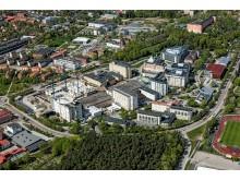 Flygbild Akademiska sjukhuset 2016-2