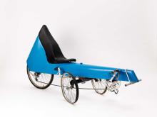 Liggcykel av Veryday - visas i utställningen Cykel/Bike