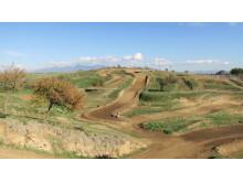 Delar av Pontesfondato MX track.